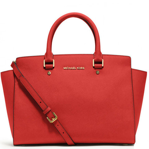 MICHAEL Michael Kors Selma Top-Zip Large Red Tote