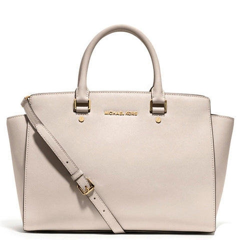MICHAEL Michael Kors Selma Top-Zip Large White Tote