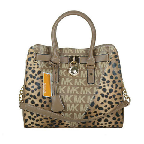 Michael Kors Hamilton Leather Large Gunmetal Tote