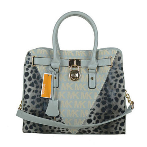 Michael Kors Hamilton Leather Large Grey Tote