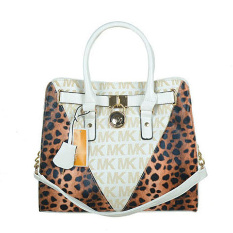 Michael Kors Hamilton Leather Large White Tote