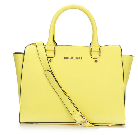 MICHAEL Michael Kors Selma Top-Zip Large Yellow Tote