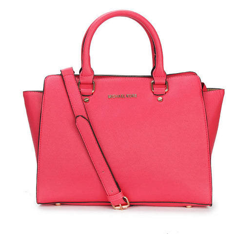 MICHAEL Michael Kors Selma Top-Zip Large Rose Tote