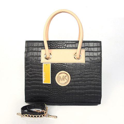 Michael Kors Embossed Medium Black Tote