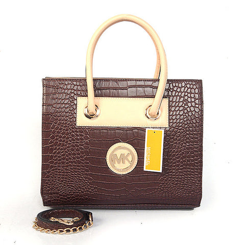 Michael Kors Embossed Medium Coffee Tote