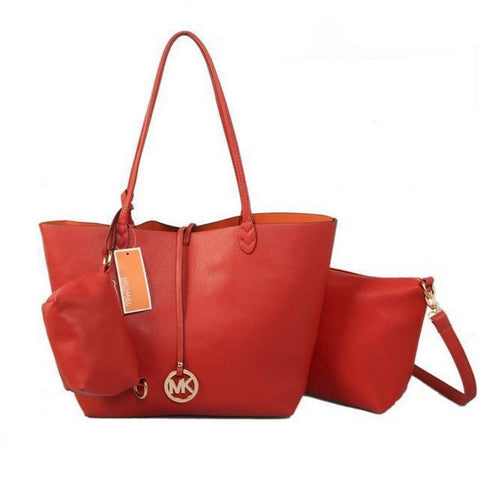 Michael Kors Charm Logo Large Red Tote