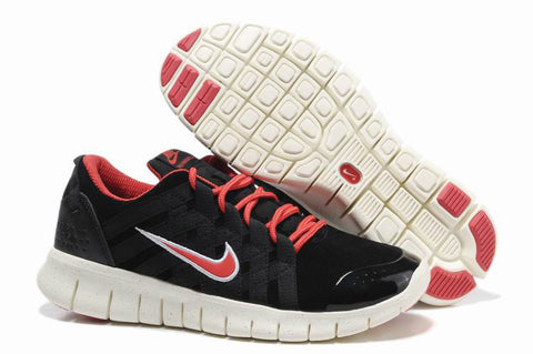 Nike Free 2.0 Black Red Powerlines Mens Running Shoes