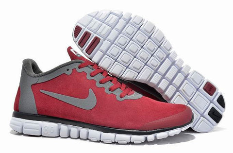 Nike FREE 3.0 RUN + 2S Red Silvery HUANG WOOL SKIN