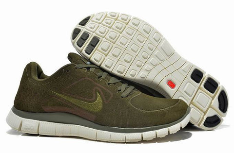 Nike Free 5.0 Army Green Mens Running Shoes