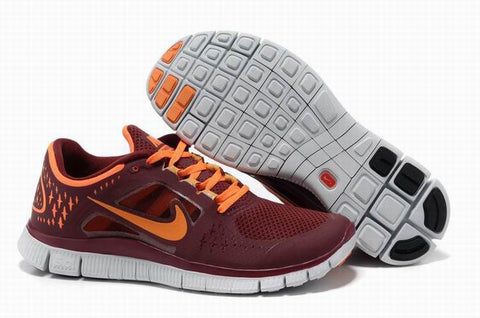 Nike Free Run +3 Red Orange Mens Running Shoes