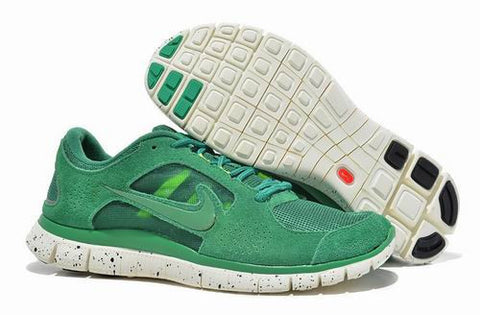 Men Nike Free Run+3 5.0 EXT in Green Suede Shoes