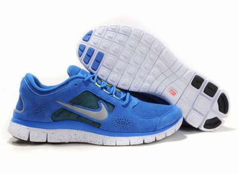 Nike Free Run+3 5.0 EXT in Blue Silvery White Suede