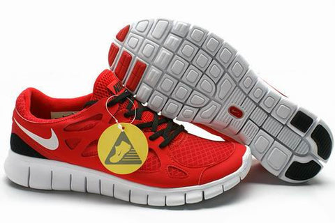 2013 Nike Free Run +2 Red Black White Mens Shoes