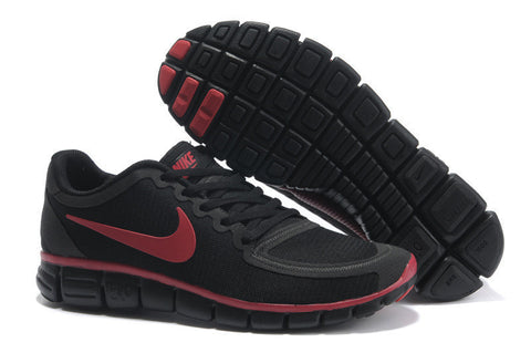 Nike Free Run 5.0 Black Red Black Mens Shoes
