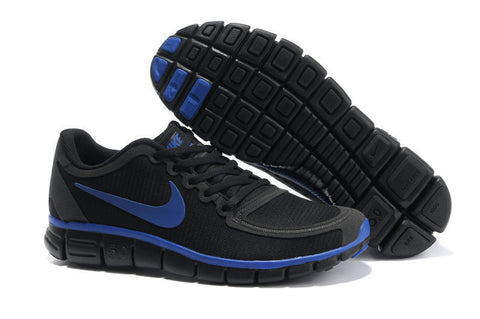 Nike Free Run 5.0 Black Dark Royalblue Mens Shoes