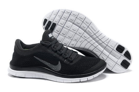 Nike Free Run 3.0 V5 Mens Running Shoes Black / Metallic Silver / Anthracite