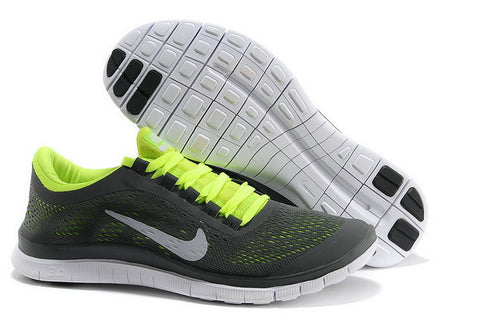 Nike Free Run 3.0 V5 Mens Running Shoes Black / Summit White / Volt