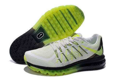 Nike Air Max 2015 Mens Shoes White / Black / Green