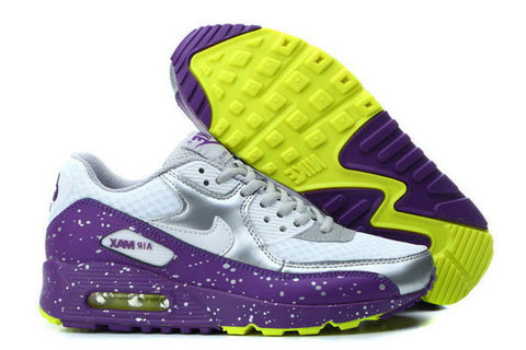 Air Max 90 Splatter Pack Womens Shoe Wolf Grey / Bright Grape / Venom Green