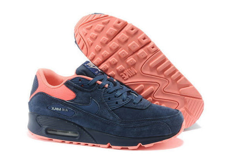 Air Max 90 Premium Womens Shoe Dark Blue / Orange