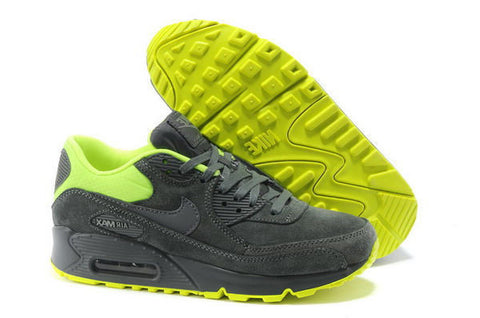 Air Max 90 Premium Womens Shoe Dark Grey / Green