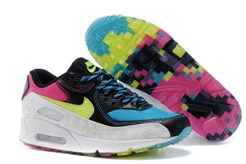 Air Max 90 Womens Shoe Blue / Black / White / Volt