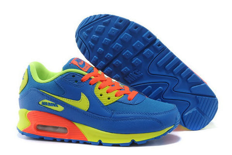 Air Max 90 Womens Shoe Blue / Orange / Volt