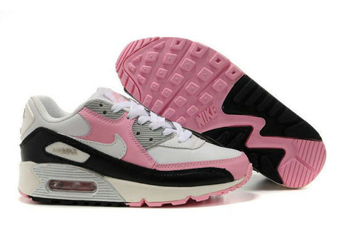 save off hot sales aliexpress Womens Nike Air Max 90 Trainers Pink/Black/White/Ivory
