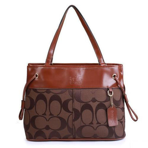 Coach Borough Logo Monogram Large Coffee Totes FBN