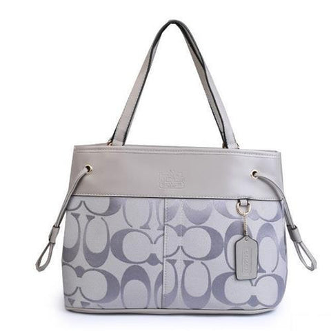 Coach Borough Logo Monogram Large Grey Totes FBP