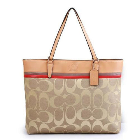 Coach Borough In Signature Large Apricot Totes FBR