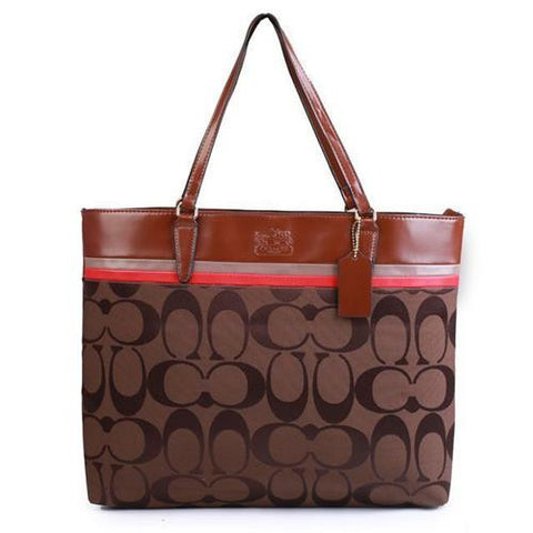 Coach Borough In Signature Large Coffee Totes FBS