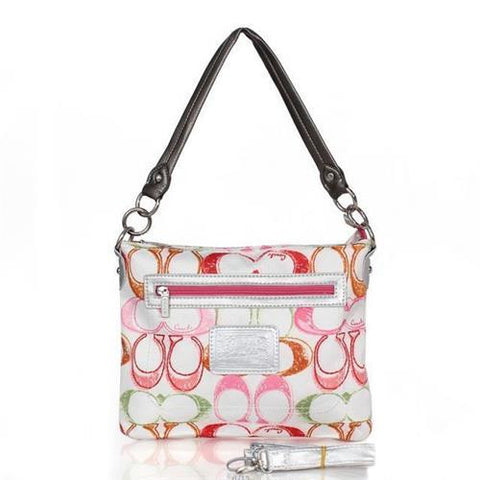 Coach Colorful Signature Small White Multi Crossbody Bags FED