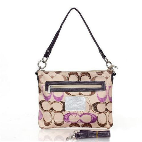 Coach Colorful Signature Small Apricot Multi Crossbody Bags FEF