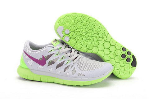 Nike Free 5.0+ Womens Running Shoes White / Volt / Pure Platinum / Purple