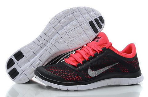 7c5428a2a8e3 Nike Free Run 3.0 V5 Womens Running Shoes Dark Charcoal   Summit White    Challenge Red
