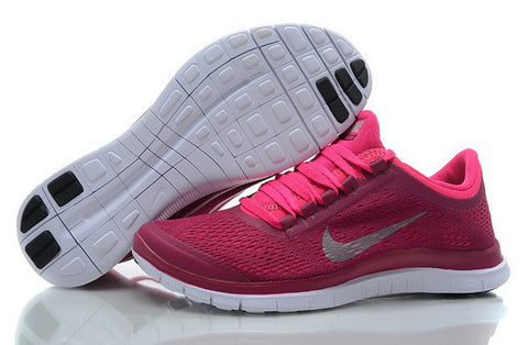 Nike Free Run 3.0 V5 Womens Running Shoes Rose Red