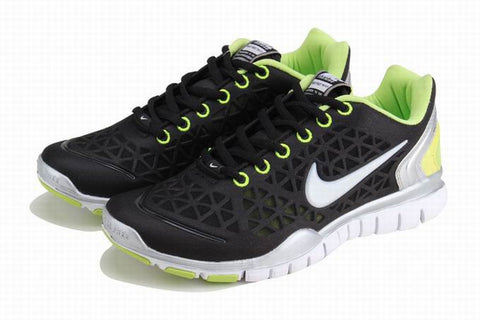 Nike Free TR FIT Black Green White Womens Running Shoes