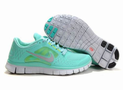 Nike Free Run +3 Gray Jade White Womens Running Shoes