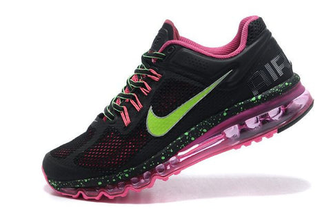 Air Max 2013 Women Black Pink Green M21075