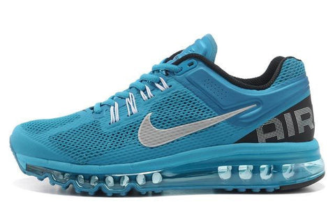 Nike Air Max 2013 Womens Running Shoes Silver Sky Blue