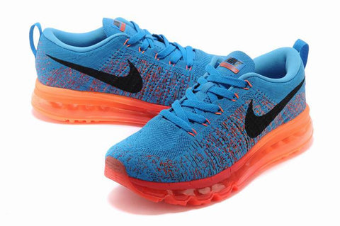 finest selection 6dc29 f5a01 Authentic Nike Air Max Flyknit Air Max MenSky blue Orange red