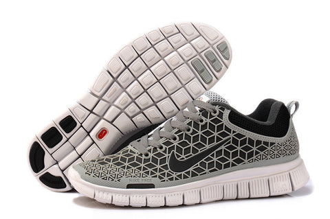 Excellent Nike Free Run 6. 0 Wolf Grey Black White Mens Running Shoes DC009864