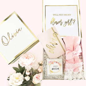 Personalized Bridesmaid Proposal Gift Box, Gift Box, [JcubedK]