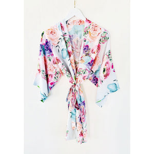 Monogram Succulent Cotton Robe, Robe, [JcubedK]