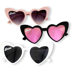 Heart Sunglasses Babe & Bride - jcubedk