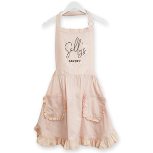 Personalized Ruffled Apron - jcubedk