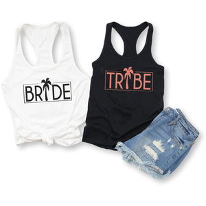 Beach Palm Bride Tribe Tank Tops, Tank Top, [JcubedK]
