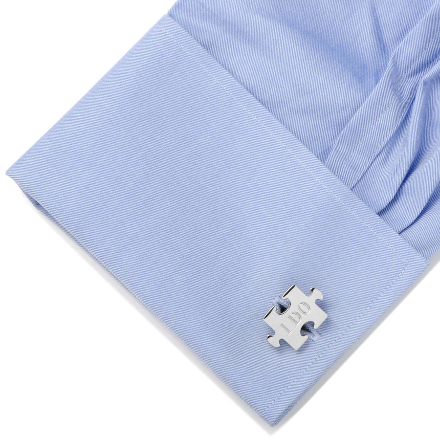 Wedding Puzzle Pieces Cufflinks Pair, Cufflinks, [JcubedK]