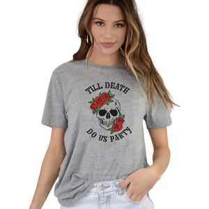Till Death Do Us Party Bachelorette Party Shirts - jcubedk